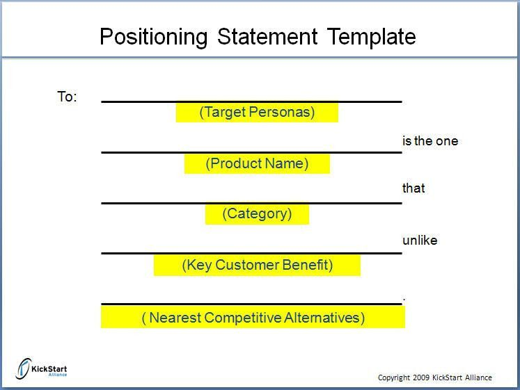 Do we really need a positioning statement?"