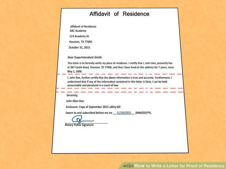 How to write a proof of address letter