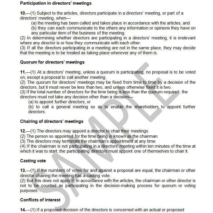 Memorandum Of Incorporation Template - Contegri.com
