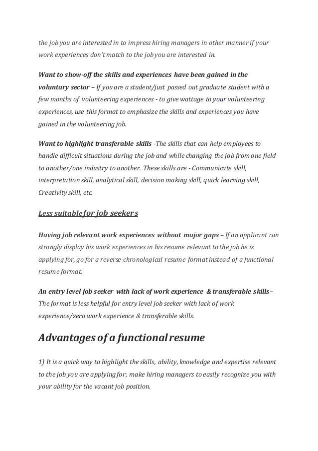 Functional Resume Templates & Cover letter