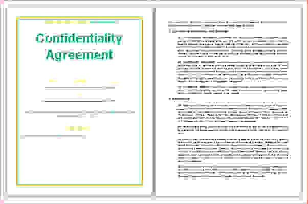 3 confidentiality agreement templateReport Template Document ...