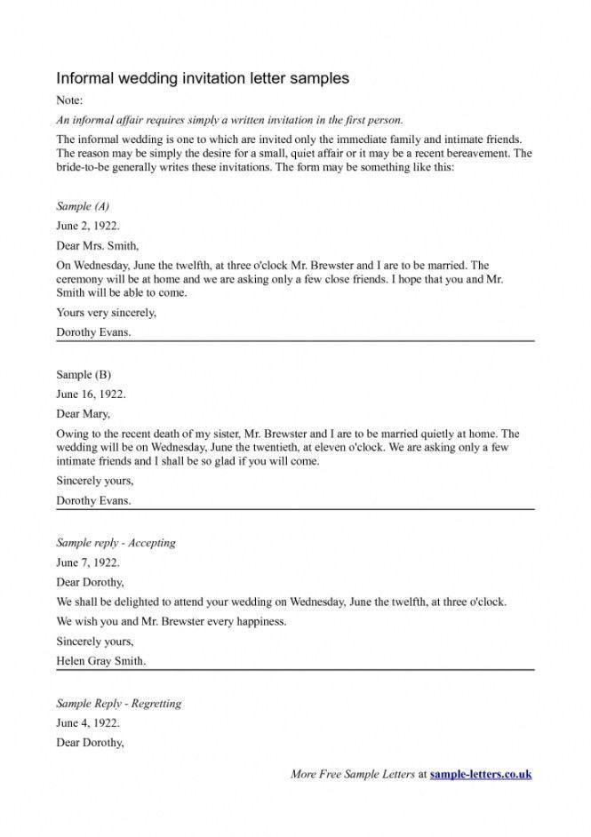 Wedding Invitation Cover Letter | PaperInvite