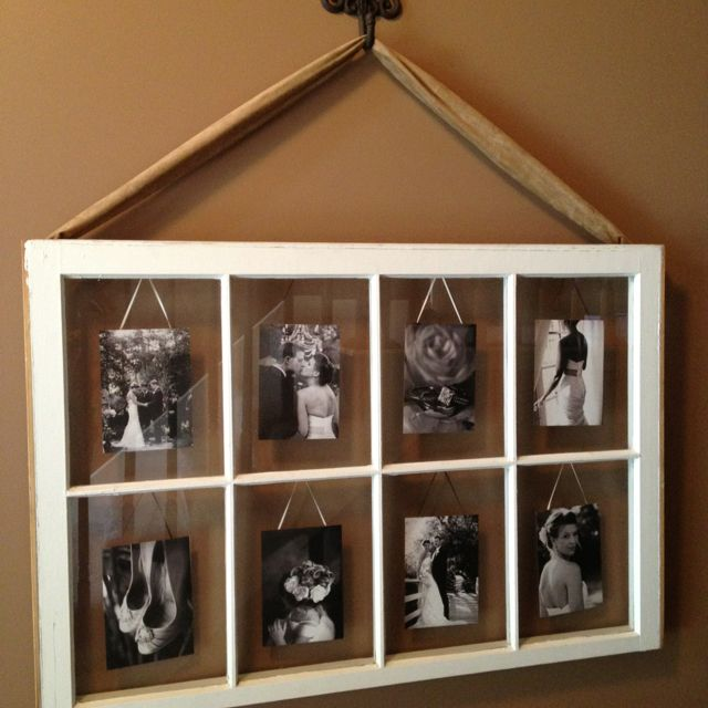 Tutorial how to hang a vintage window for wall display for How to use an old window as a picture frame