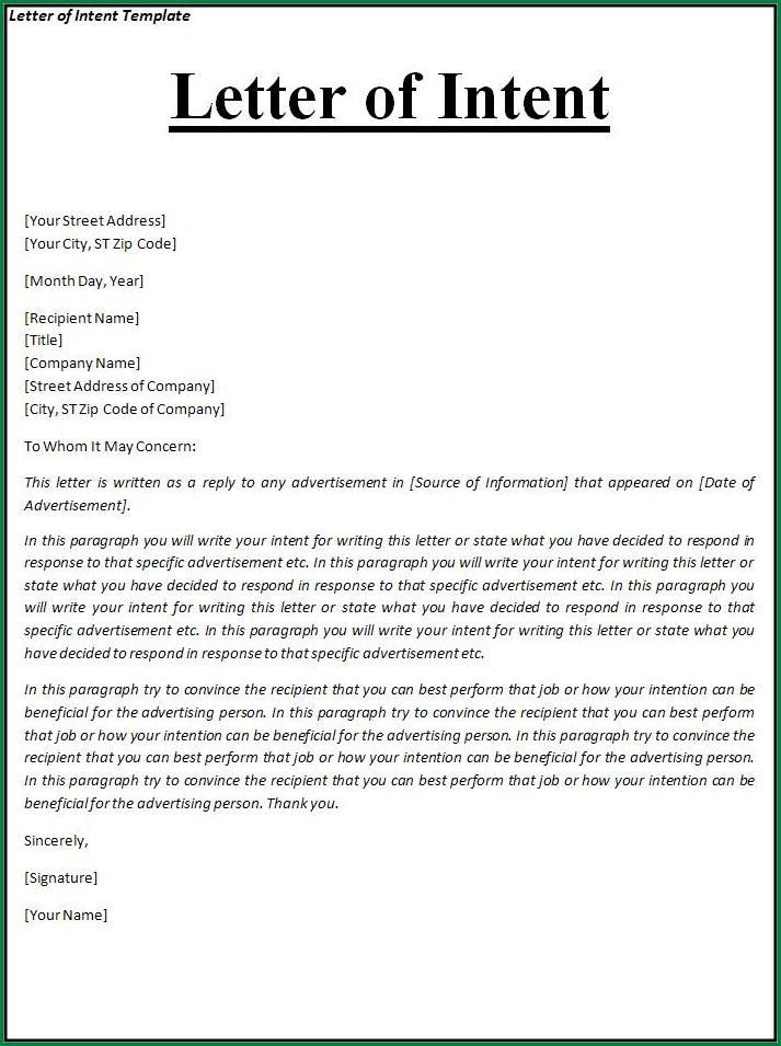 Sample Intent Letter For Teachers.Letter Of Intent Template.jpg ...