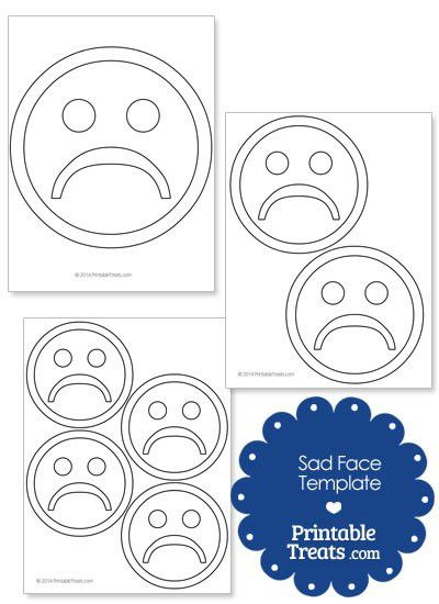 Printable Sad Face Template — Printable Treats.com