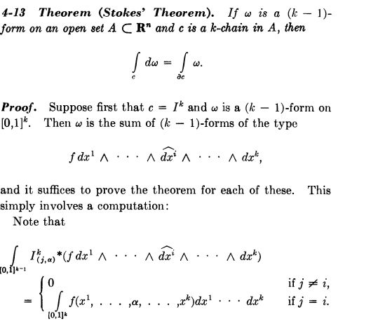 calculus - Details of Spivak's Proof of Stokes' Theorem ...