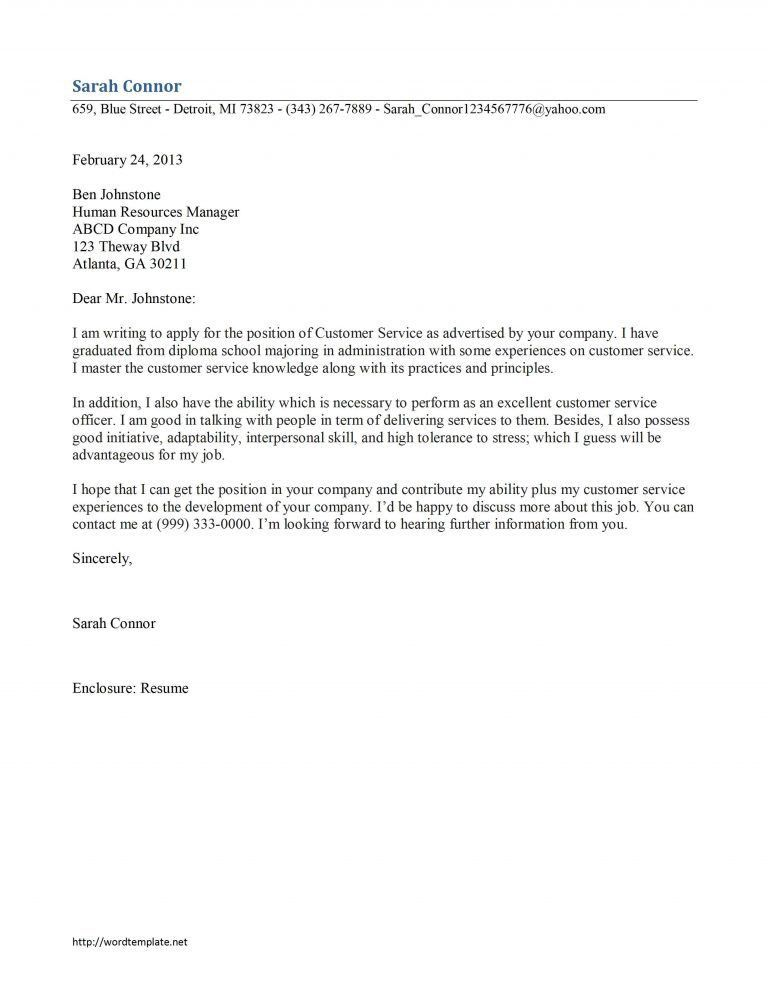 Bright Inspiration Customer Service Cover Letter Examples 13 ...