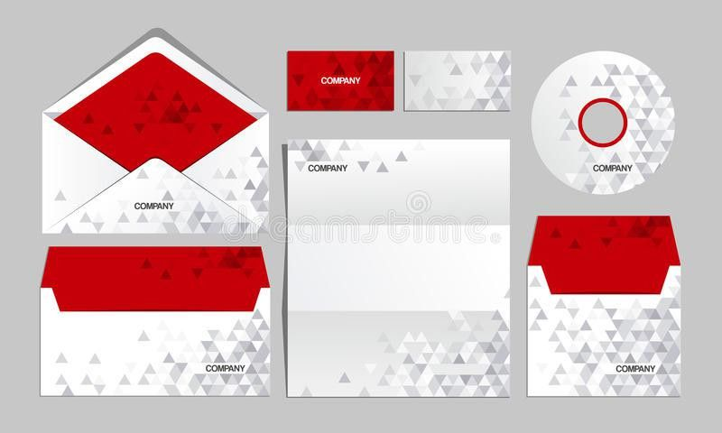 RED Corporate Origami Identity Template. Vector Company Style For ...