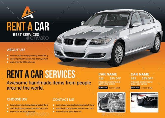 Rent a Car Flyer Bundle by afjamaal | GraphicRiver