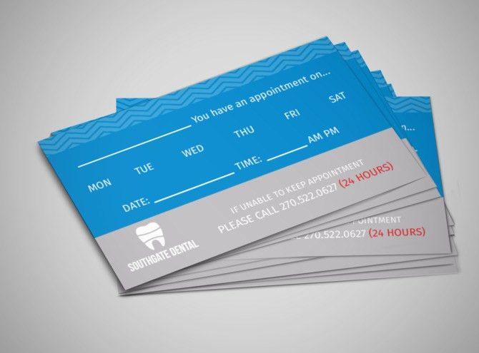 Southgate Dental Reminder Card Template | MyCreativeShop