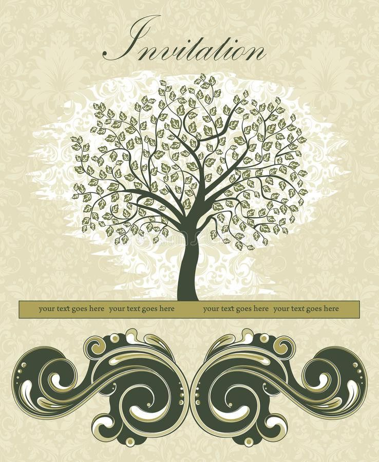 Family Reunion Invitation Card Stock Vector - Image: 39096312