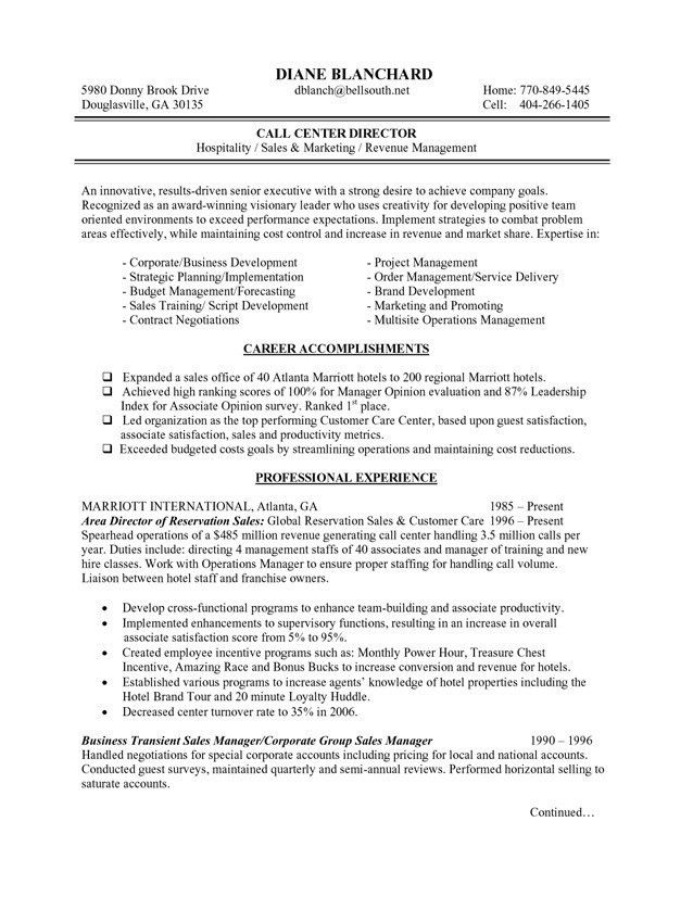 Hospitality Manager Resume Sample - Contegri.com