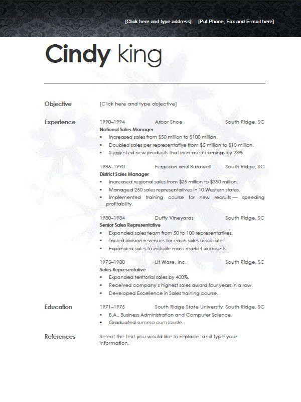 basic resume template examples free templatesresume 2 down resume ...