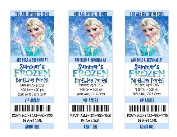 Frozen Movie Birthday Invitations - vertabox.Com