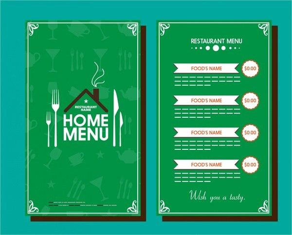 Restaurant menu template free vector download (14,009 Free vector ...