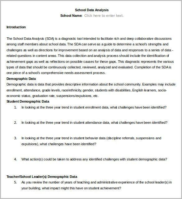 Data Analysis Template – 8+ Free Word, PDF Format Download! | Free ...