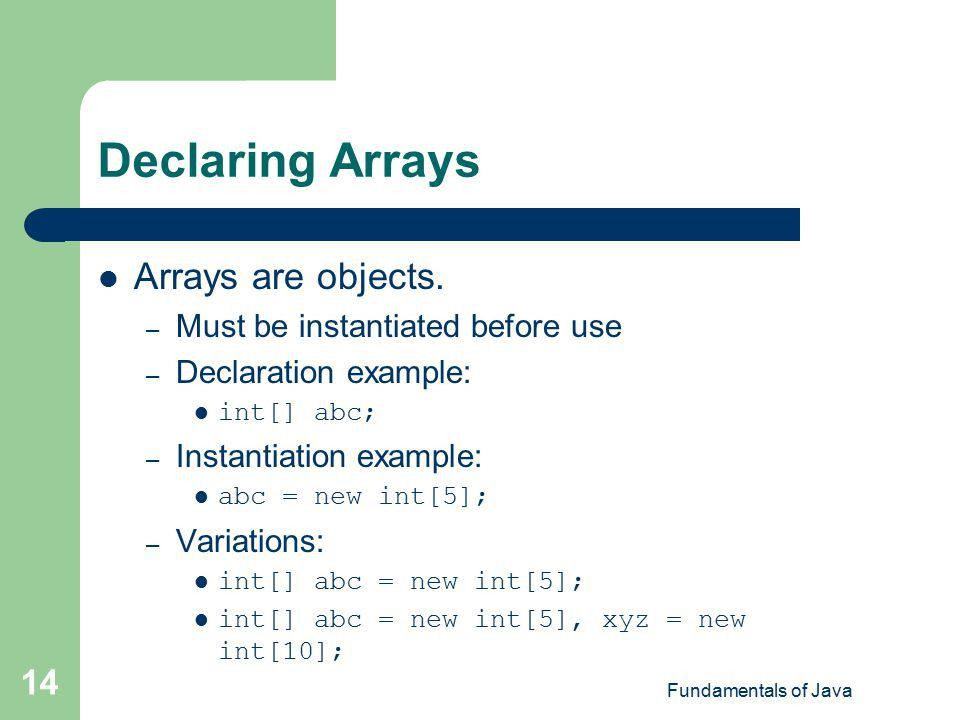 Chapter 9 Introduction to Arrays - ppt video online download