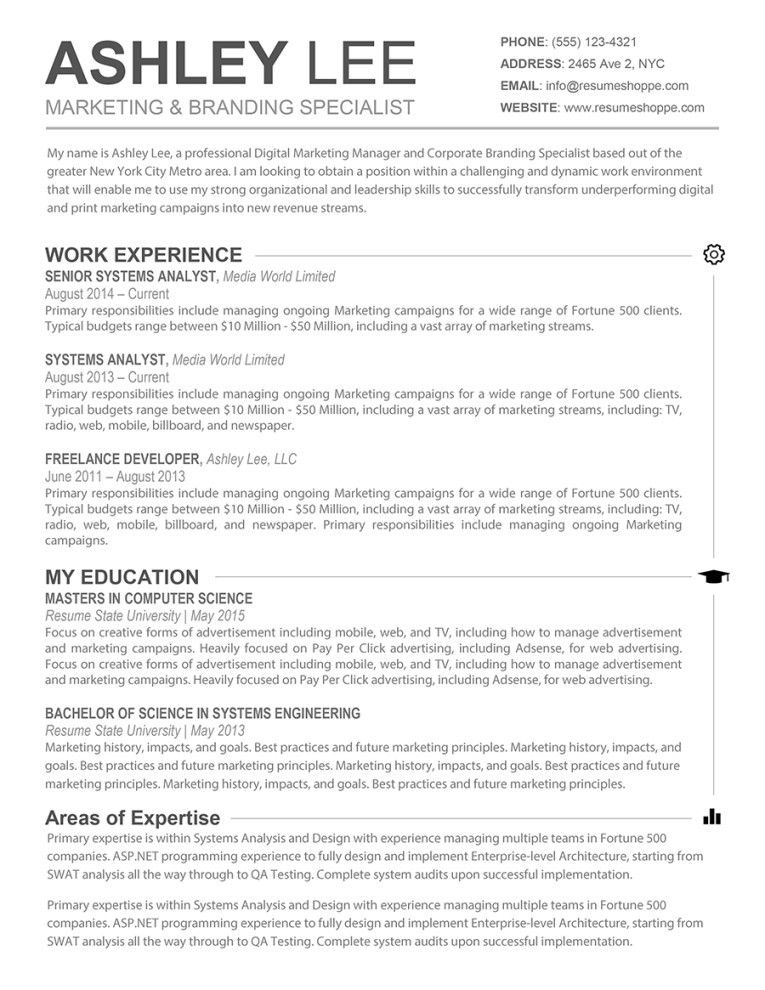 Mac Resume Templates - Resume Example
