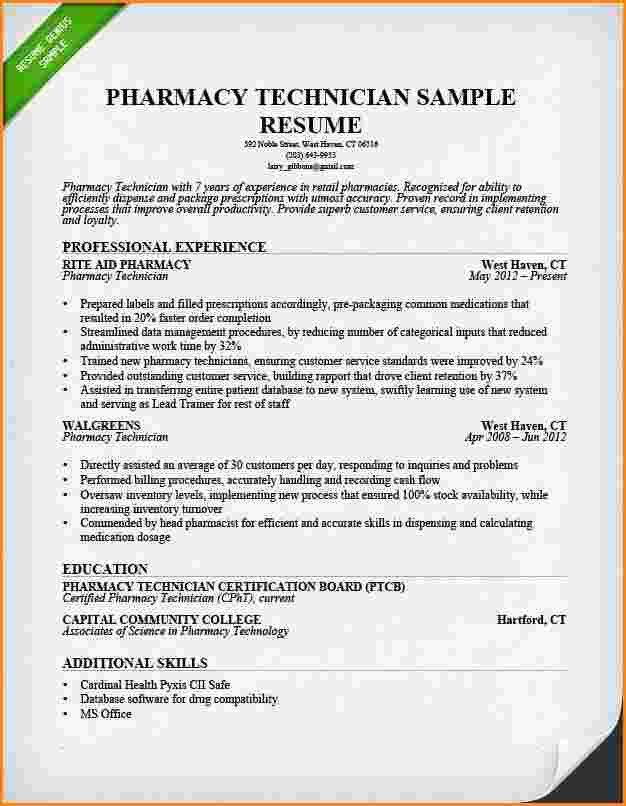 5+ example resume of a pharmacy assistant | receipts template