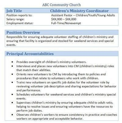 34 best Church Administrator images on Pinterest | Job description ...