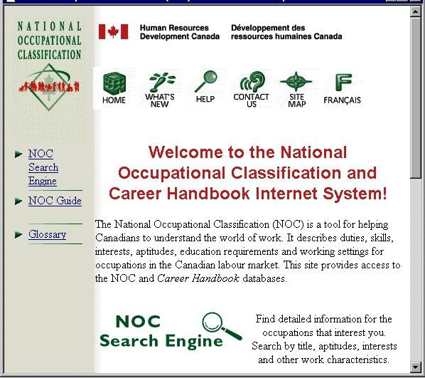 Panaton Projects & Expertise: National Occupational Classification