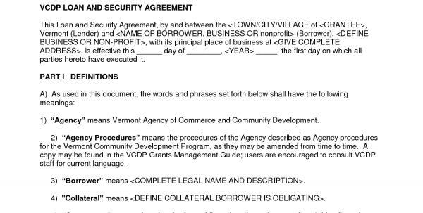 Standard Loan Agreement Template Free Standard Loan Agreement ...