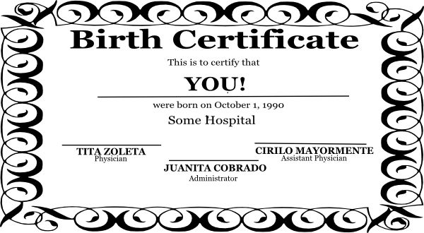 Birth Certificate Clip Art at Clker.com - vector clip art online ...