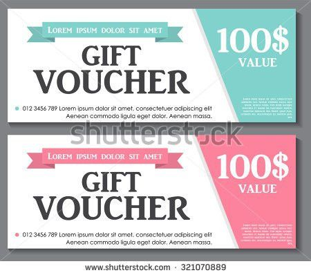 Gift Voucher Template Sample Text Vector Stock Vector 357360818 ...