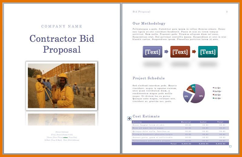 7+ construction bid template | Itinerary Template Sample