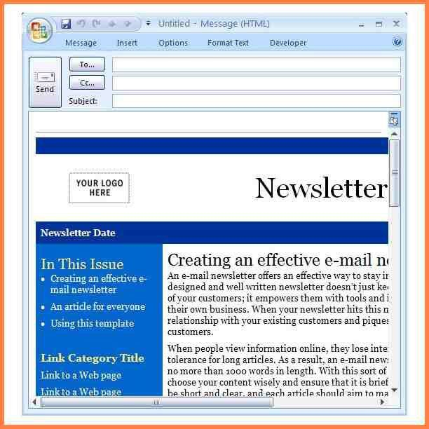 7+ newsletter templates for outlook | Newsletter Template