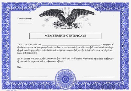 Corporate Stock Certificates - Blank