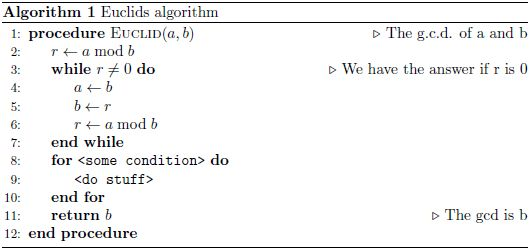 algorithms - How to format for loop - TeX - LaTeX Stack Exchange