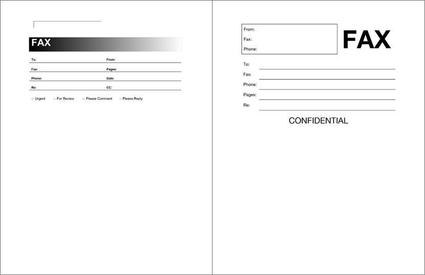 Fax Cover Sheet Filetype Doc - Cover Letter Templates