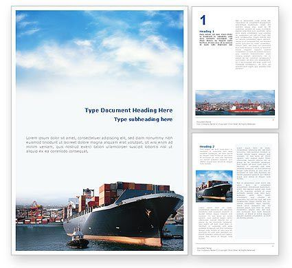 Sea Shipping Word Template 01782 | PoweredTemplate.com