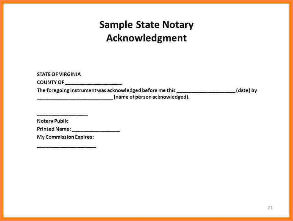 Notary Statement Template. best photos of blank notary template ...