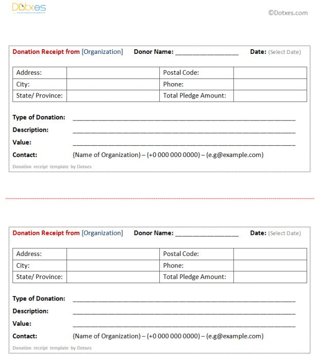 Donation Form Template Doc : Donation Form Example. Donation Form ...