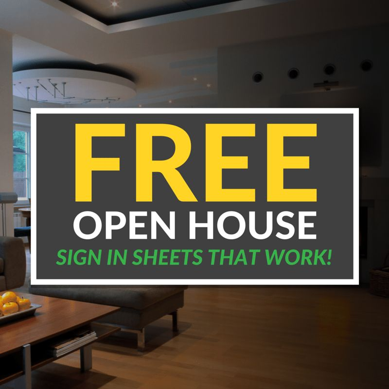 Open House Sign In Sheet Templates (Free & Printable)