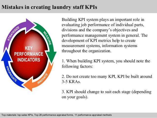 Laundry staff kpi