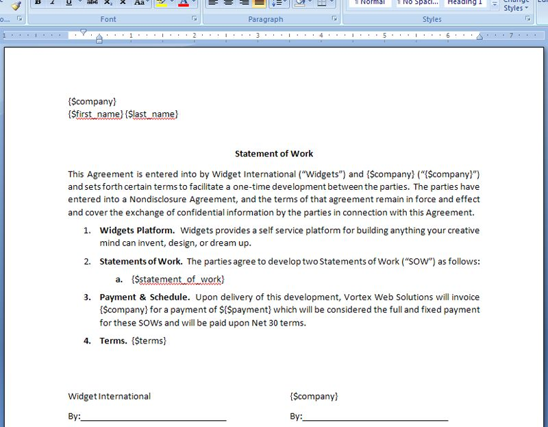 Generate a Statement of Work Agreement from Base CRM Deal | WebMerge