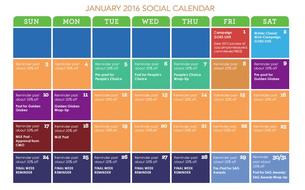 """Simply Measured on Twitter: """"Is your #socialmedia content calendar ..."""