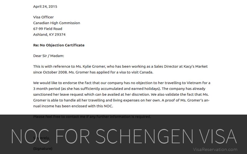 Absolute Guide on No Objection Letter For Schengen Visa - Visa ...