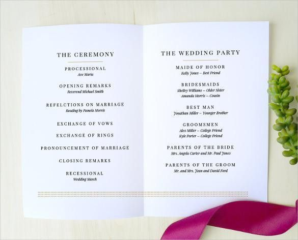 Wedding Program Templates | Download Free & Premium Templates ...