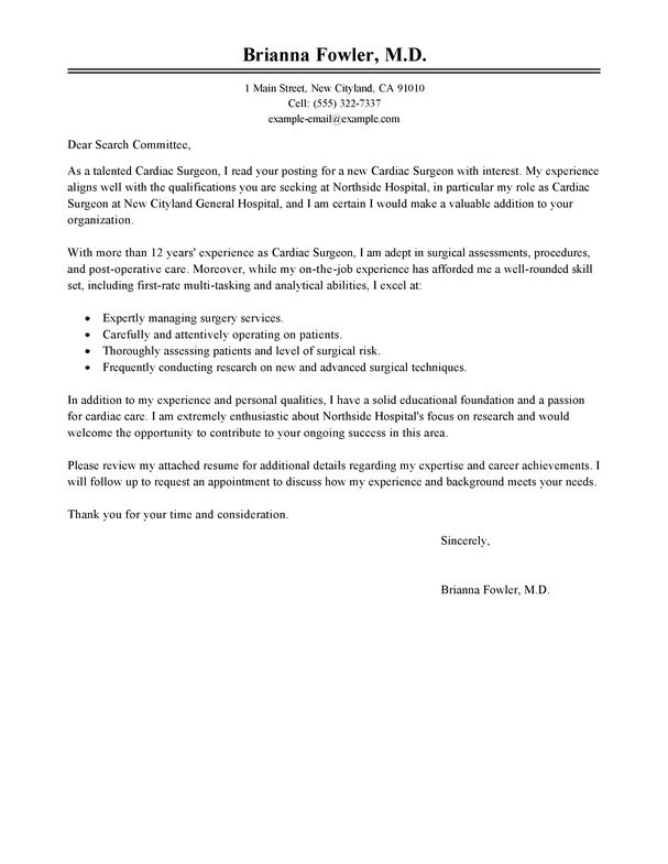 medical transcription cover letter