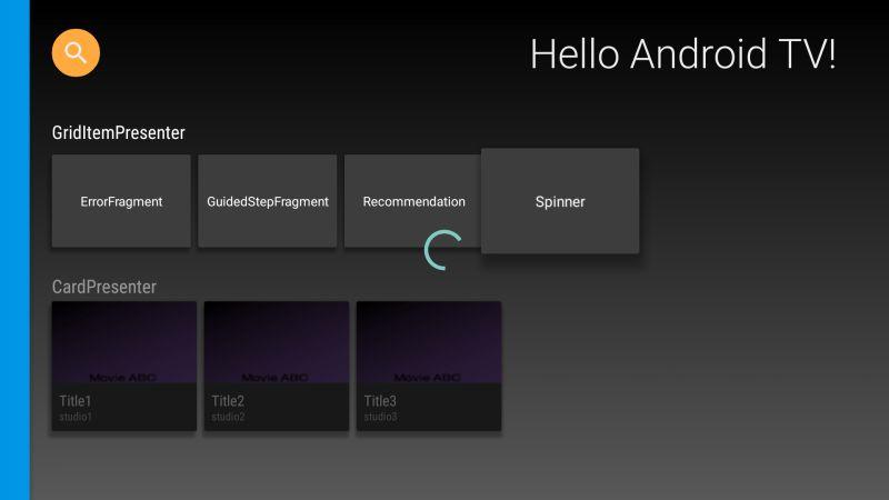 Spinner Fragment: show loading progress bar - Android TV app ...