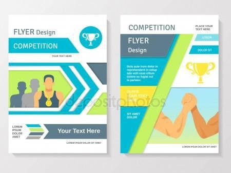 Sports Competition Flyer Template — Stock Vector © macrovector ...