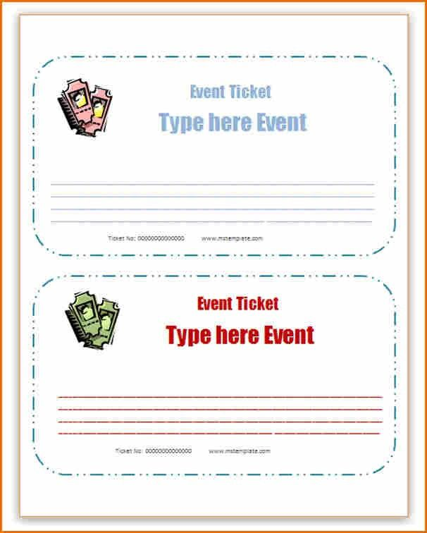 8+ microsoft word ticket template | Job Resumes Word
