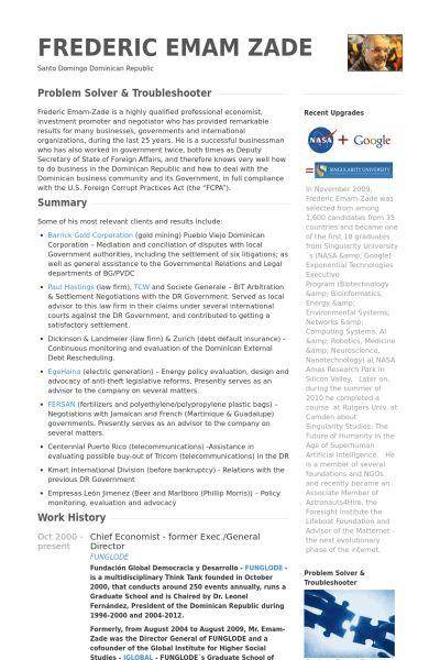 General Resume samples - VisualCV resume samples database
