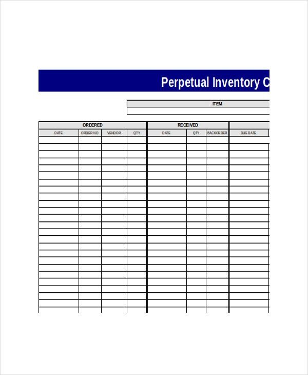 Perpetual Inventory Template - Free Word, Excel , PDF Documents ...