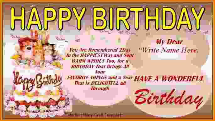 Free Birthday Card Template.free Printable Birthday Cards 1 400px ...
