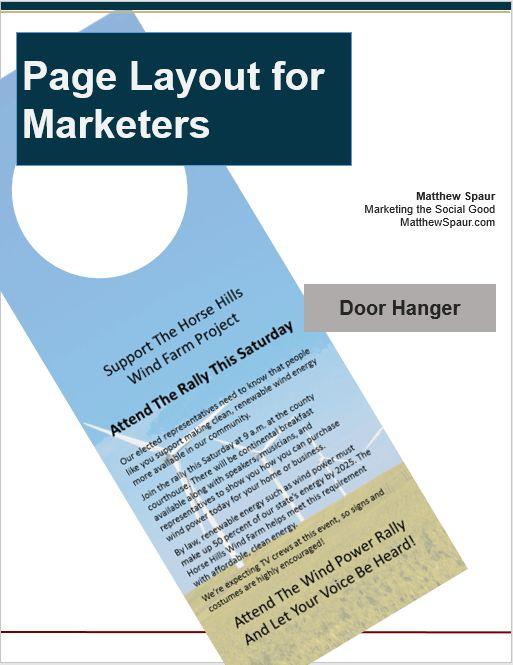 Free download! Door hanger design template for Microsoft ...